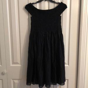 J.Crew size L black cotton dress. Elastic top.